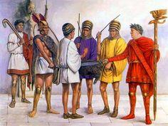 """Sacrifice establishing a treaty between Romans and Samnites"", Richard Hook"
