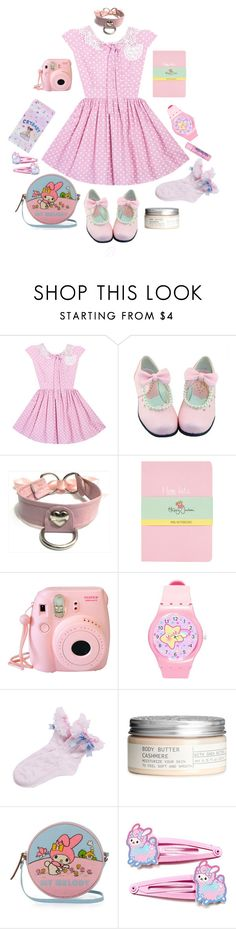 """B. Outfit #8 ddlg pastel pink"" by brokenbabydolly ❤ liked on Polyvore featuring Topshop, H&M, Olympia Le-Tan, Cotton Candy and ddlg"