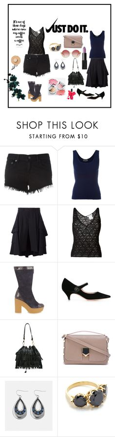 """""""Just do it..."""" by jamuna-kaalla ❤ liked on Polyvore featuring rag & bone/JEAN, Claude Montana, Comme des Garçons, Christian Dior, See by Chloé, Rochas, L'Autre Chose, Jimmy Choo, Avenue and Jacquie Aiche"""