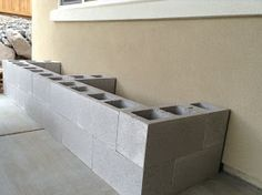 ~- Hello Daly -~: Mini Patio Project - Cinder Block Bench