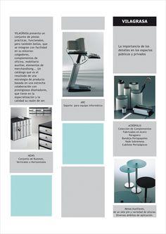 Catálogo mobiliario y complementos de oficina para la empresa DISMAC. Versión editada en formato PDF.  Trabajo de diseño para la integración sintética de todas las líneas de productos distribuidos por dicha empresa.