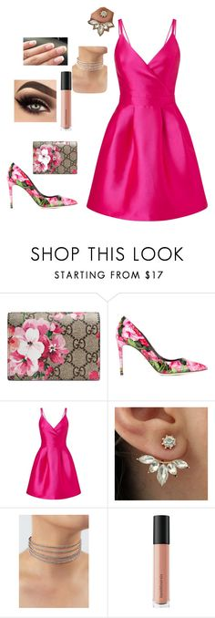 """Secret garden"" by goddessofbacon ❤ liked on Polyvore featuring Gucci, Dolce&Gabbana, Miss Selfridge and Bare Escentuals"