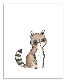 trafalgars square Raccoon Print | zulily
