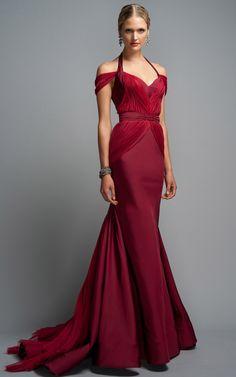 Zac Posen Peony Halter Evening Gown