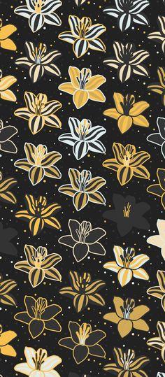 Russfussuk Golden Humbug Pattern F1A #pattern #patterndesign #patternprint #flower #floral #gold #humbug #generative #cadernos #padrões
