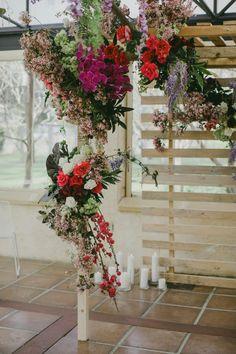 floral arbour for a modern indoor wedding