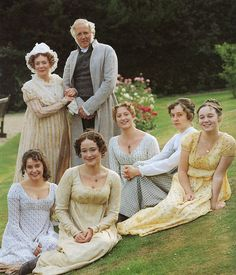 "Pride and prejudice    The Bennet family from the B.B.C's 1995 adaptation of Jane Austen's ""Pride and prejudice""."