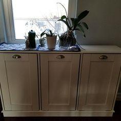 Wood Trash Can, Recycling Bin, Storage Bin, Solid Pine Garbage Can Laundry Hamper, Storage, Storage Bins, Trash Barrel, Custom Kitchen Island, Recycling Bin Storage, Shaker Style, Custom Kitchen, Wooden Bins