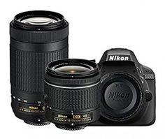 Nikon D3300 24.2MP Digital SLR (Black)  AF-P DX NIKKOR 18-55mm f/3.5-5.6G VR Lens  AF-P DX NIKKOR 70-300mm f/4.5-6.3G ED VR Lens  Memory Card  Camera Bag