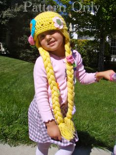 Ansleigh - Rapunzel Hat Crochet Pattern PDF by prettythings55 on Etsy