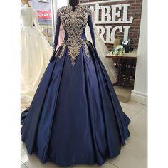 Muslim Wedding Dresses, Bridal Dresses, Prom Dresses, Muslim Brides, Wedding Hijab, Navy Dress Outfits, Fashion Dresses, Beautiful Gowns, Beautiful Outfits