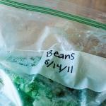 Frrrrrrrozen cooked dried beans...so much better than BHA filled cans!