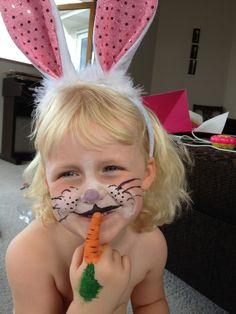 rabbit face paint