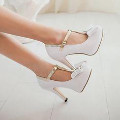 Zapatos de mujer - Tacón Stiletto - Tacones / Punta Redonda / Punta Cerrada - Tacones - Boda / Vestido / Fiesta y Noche - Semicuero -Rosa – EUR € 33.24