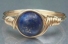 Thank You Sale Lapis Lazuli 14k Gold Filled Custom by AnjasArts, $11.20