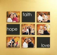 Faith Hope Love Photo Canvas created by Sarah Owens for #CraftWarehouse