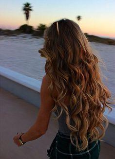 Sunkissed hair