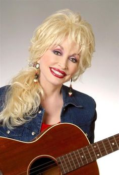 Dolly with her guitar