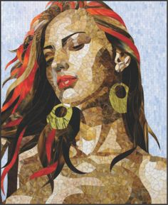 Mosaic Portrait in Stained Glass Unique Wall Art | eBay