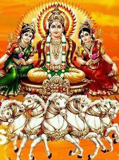 Suryadeva and his family Durga Images, Lakshmi Images, Lord Krishna Images, Lord Ganesha Paintings, Lord Shiva Painting, Indian Goddess, Durga Goddess, Raksha Bandhan Wallpaper, Lord Murugan Wallpapers