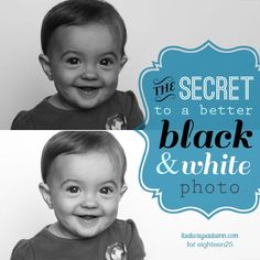this one easy tip makes a HUGE difference in the look of your black and white photos - and it's super simple!