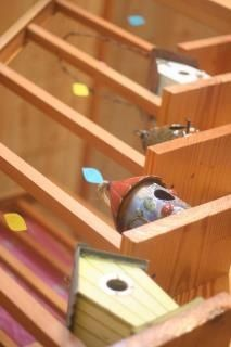 Look whoo's one / hoot owl party ideas -- decor birdhouses