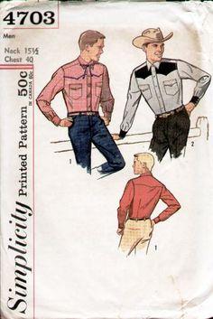 Mens fitted westen shirt