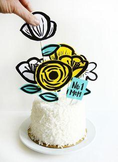 Printable Mother's Day Garden Cake Topper