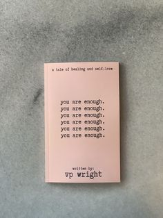 "buy vp wright's new chapbook ""you are enough."" wright's first book of poetry is for a love letter full of affirmations written to their younger self. twenty original pieces, from the universe to you. - poetry, chapbook, cute books, book of poetry Best Poetry Books, Best Books To Read, Books To Buy, Good Books, My Books, Self Love Books, Book Suggestions, Book Recommendations, Book Club Books"
