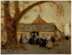 View The Circus, Concarneau - By ; Access more artwork lots and estimated & realized auction prices on MutualArt. Canadian Painters, Canadian Art, James Wilson, Artwork, Paintings, Artists, Group, Landscape, Watch