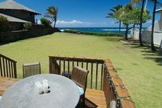 The view from the back deck of a home listed for sale in Kuau on Maui's North Shore