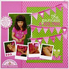 Sweet Enough to Eat - Bubblegum pink layout by Mendi Yoshikawa from Doodlebug Design