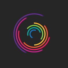 Colourful Geometric Loop GIFs by Florian de Looij