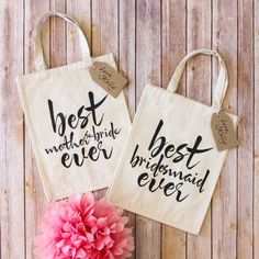 Bridal Cotton Tote by Beau-coup - Wedding Favor (($))
