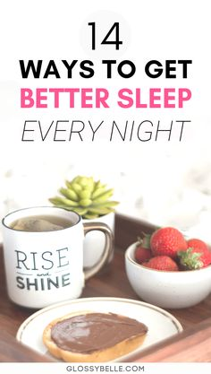 14 Ways To Get Better Sleep To Feel More Productive & Energized – Glossy Belle Wellness Tips, Health And Wellness, Health Tips, Wellness Products, Mental Health, Health Care, Healthy Mind, Healthy Habits, Night Routine