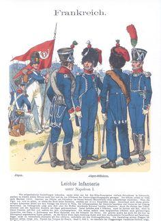 Band XIII #23.- Frankreich. Leichte-Infanterie unter Napoleon I. Jäger. Jäger-Offiziere.