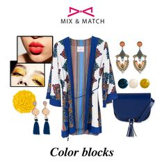 Color blocking. Yellow & blue.  #accessories #achilleas_accessories Fashion Story, Spring Summer 2016, Mix Match, Color Blocking, Yellow, Blue, Accessories, Image, Style
