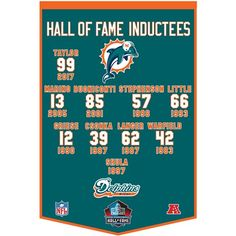 Dolphins Enshrinee Banner Football Man Cave, Nfl Football Players, Football Gear, Around The Nfl, Fin Fun, Nfl Miami Dolphins, Nfl History, Football Hall Of Fame, Football Conference