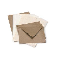 KOZO/レターセット ブラウン 683yen 洗練された和の粋を感じる便箋と封筒