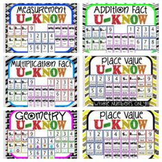 If you like UNO, you'll love U-Know!! Kids love practicing key skills when you play U-Know!!! Played like the classic UNO games, except with a twist! When you play a card you have to determine the answer. If you're wrong, DRAW 2!!! MANY VERSIONS AVAILABLE!! (math games, 3rd, 4th, 5th, 6th grade,) $