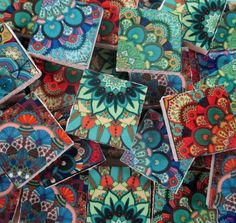 Ceramic Mosaic Tiles - Blue Green Colored Decorative Moroccan Tile Mosaic Tiles #WhereGypsiesRoam