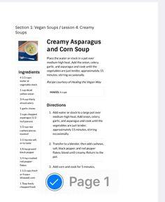 Asparagus and corn soup