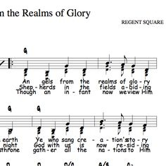 Angels From the Realms of Glory, Capo 2 in G