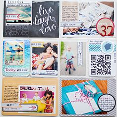 Project Life 2013 - Week 32 - Left - Scrapbook.com- use banners and stickers for creative pocket page journaling