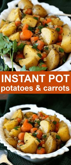 Instant Pot Potato Carrot Medley has flavor to spare and all in under 30 minutes. So simple you can have your favorite vegetables anytime you want. A Great side dish that is vegan, gluten-free, healthy and delicious! #sidedish #potatoes #glutenfree #vegansidedish #vegan #veganrecipes #veganfood #vegetarian #plantbased #instantpot #veganinthefreezer Fast Dinner Recipes, Vegan Recipes Easy, Breakfast Recipes, Vegetarian Recipes, Instant Pot Pressure Cooker, Pressure Cooker Recipes, Vegan Side Dishes, Make Ahead Lunches, Best Comfort Food