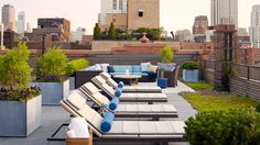 The Most Gorgeous Urban Rooftop Gardens// chaise lounge, Sawyer Berson, urban landscape
