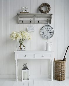 The White Lighthouse hallway furniture. Browse our range of small hall furniture, hallway console tables and hall storage to match every style of interiors, size and budget. Free UK delivery on most hall pieces Small Hallway Furniture, Hallway Table Decor, Hallway Console, Hall Furniture, Hallway Storage, Table Storage, Living Room Furniture, Furniture Ideas, Entry Hallway