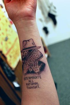 Naked Lunch by William S. Burroughs inspired tattoo