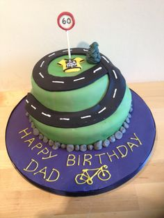 Le Tour de France 60th birthday cake for cyclist.