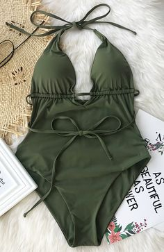 This summer is so lit. Only $22.8, Cupshe Beach Guideline Backless One-piece Swimsuit features open back and tie design. Show off glimpse of skin in this bikini. Can't be any hotter! Check it out.